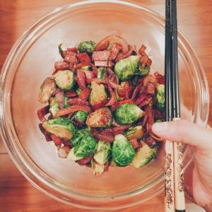 Sautéed Brussels Sprouts With Bacon and Onions